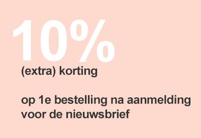 10% extra korting 1e bestelling na aanmelding op Nieuwsbrief chiarico gezien op instagram