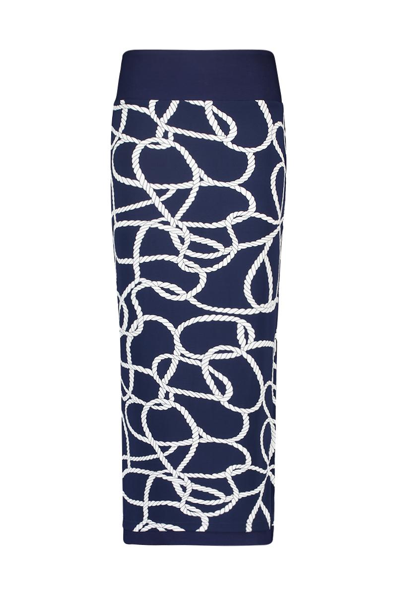 De Skirt Long is aan twee kanten draagbaar (omkeerbare rok) met dubbele tailleband om buik te corrigeren. De lengte is perfect tot boven de enkel met split aan de zijkant, u kunt de tailleband ook omslaan om de rok korter te maken. Materiaal: 95% viscose 5% elastaan