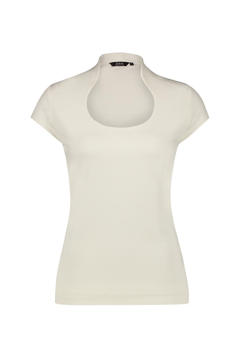 Luxe basis top met geraffineerde halslijn De hals is verhoogd aan de achterzijde, waardoor deze mooi aansluit in de nek welke eventuele uitstekende nekwervels kan verhullen. Smalle schouders, zodat deze optisch slanker maakt. Dubbele voorzijde, zodat deze minder tekent en mooier aansluit. Deze top met kapmouw kan op veel manieren worden gecombineerd en voegt een dosis stijl toe aan elke outfit.   materiaal: 95% viscose 5% elastaan